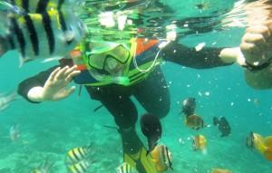 Snorkeling at Gili Nanggu