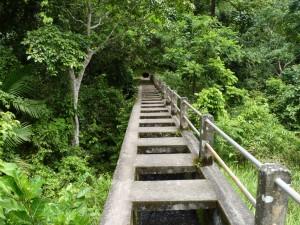 Water tunnel - Senaru Waterfall