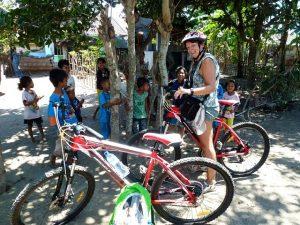Biking to countryside