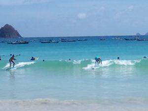 selong belanak beach for surfing