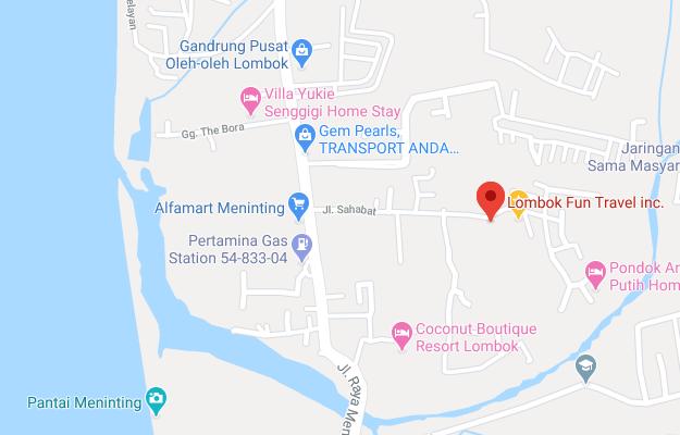 lombok fun travel map